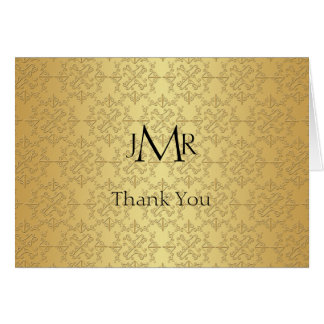 Elegant Gold 50th Anniversary Thank You Note Card