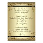 "Elegant Gold 50th Wedding Anniversary Party 5"" X 7"" Invitation Card"
