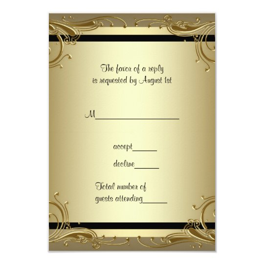 Elegant gold th wedding anniversary party rsvp quot