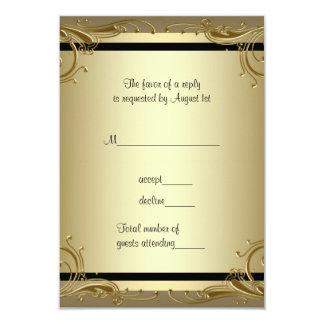Elegant Gold 50th Wedding Anniversary Party RSVP Invites