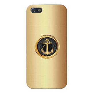 Elegant Gold Anchor Metallic iPhone 5 Case
