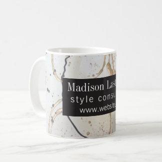 Elegant Gold and Black Abstract Coffee Mug