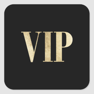 Elegant gold and black VIP very important person Square Sticker