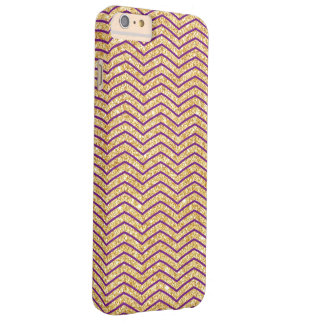 Elegant Gold and Purple Glitter Zigzag Chevron Barely There iPhone 6 Plus Case