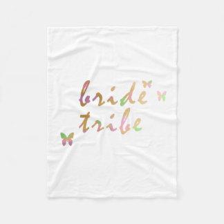 elegant gold and rose gold Bride Tribe Fleece Blanket
