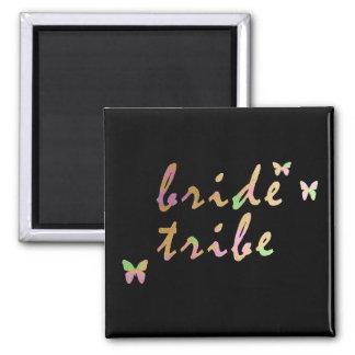 elegant gold and rose gold Bride Tribe Magnet