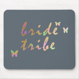 elegant gold and rose gold Bride Tribe Mouse Pad