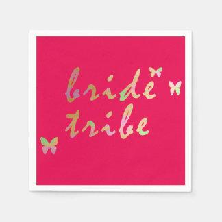 elegant gold and rose gold Bride Tribe Paper Napkin