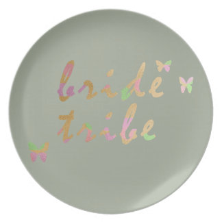 elegant gold and rose gold Bride Tribe Plate