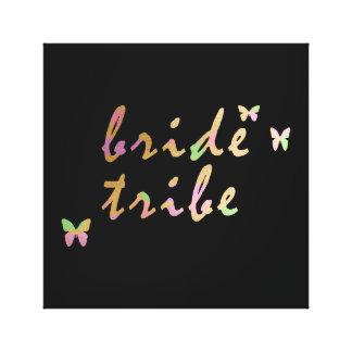 elegant gold and rose gold foil Bride Tribe Canvas Print