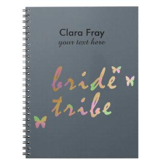 elegant gold and rose gold foil Bride Tribe Spiral Notebook
