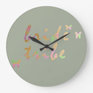 elegant gold and rose gold foil Bride Tribe Wall Clock