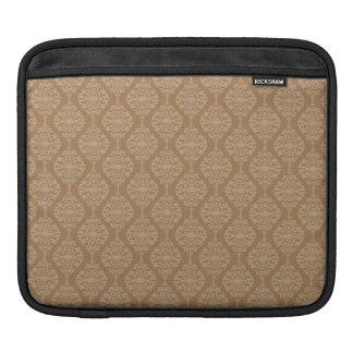 Elegant Gold And White Damask Pattern iPad Sleeves