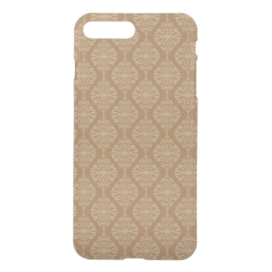 Elegant Gold And White Damask Pattern iPhone 7 Plus Case