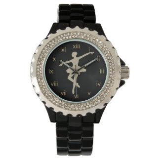 Elegant Gold Ballerina Watch