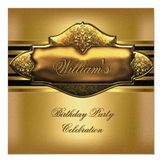 Elegant Gold Birthday Party Mens 60th Card