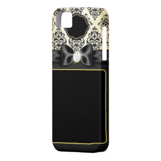 Elegant Gold & Black Bow iPhone 5 Cases