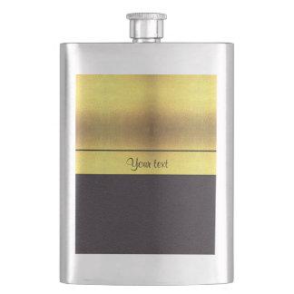 Elegant Gold & Black Flask