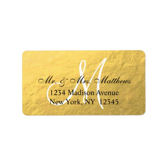 Elegant Gold Black Monogram Wedding