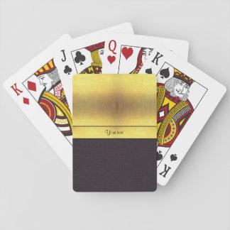 Elegant Gold & Black Playing Cards