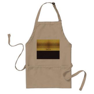 Elegant Gold & Black Standard Apron