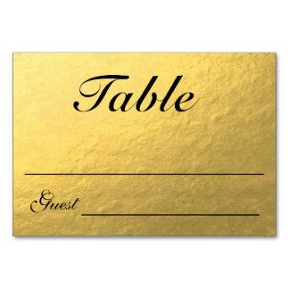 Elegant Gold & Black Table Cards