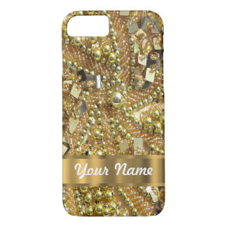 Elegant gold bling iPhone 7 case