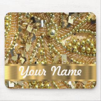 Elegant gold bling mouse pad