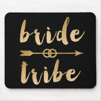 elegant gold bride tribe arrow wedding rings mouse pad