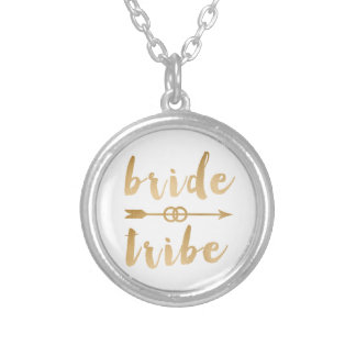 elegant gold bride tribe arrow wedding rings silver plated necklace