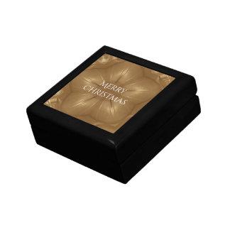 Elegant Gold Brown Christmas Kaleidoscope Star Gift Box