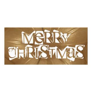 Elegant Gold Brown Christmas Kaleidoscope Star Rack Card