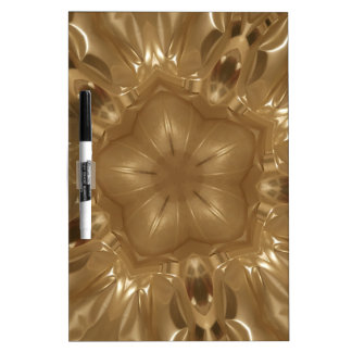 Elegant Gold Brown Kaleidoscope Star Design Dry Erase Board