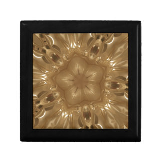 Elegant Gold Brown Kaleidoscope Star Design Gift Box