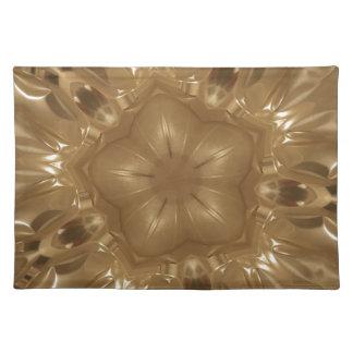 Elegant Gold Brown Kaleidoscope Star Design Placemat