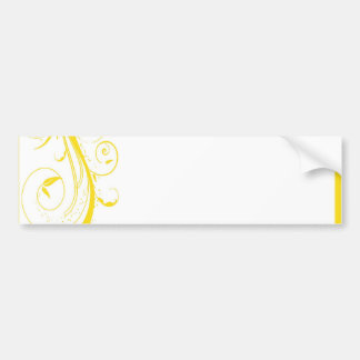 elegant gold bumper sticker