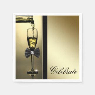 Elegant Gold Champagne Paper Napkins