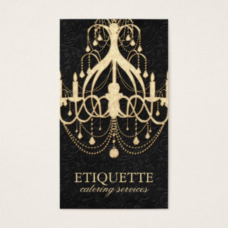 Elegant Gold Chandelier Business Card