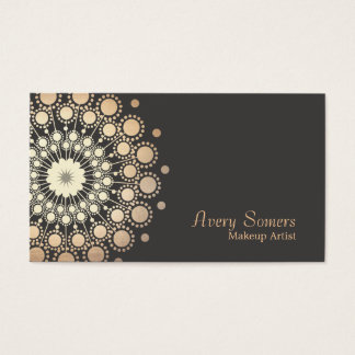 Elegant Gold Circles Makeup Artist Beauty Business Card