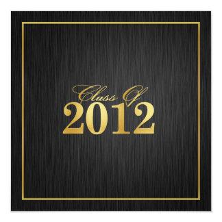 "Elegant ""Gold"" Class of 2012 Graduation Invitation"