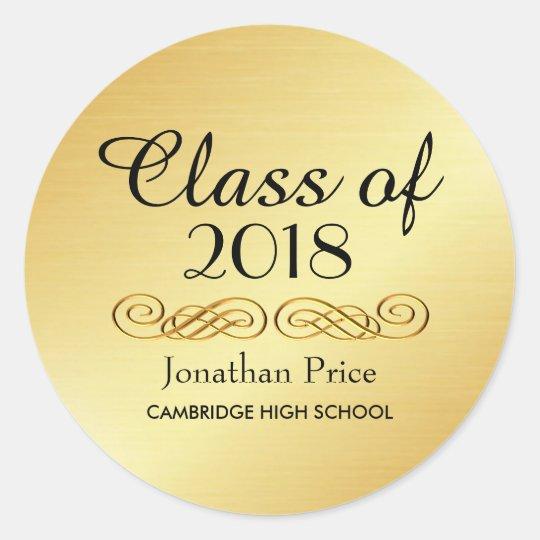 Elegant Gold Class of Graduation Envelope Seals