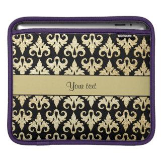 Elegant Gold Damask iPad Sleeve