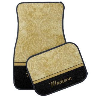 Elegant Gold Damask Monogrammed Car Mats Car Carpet
