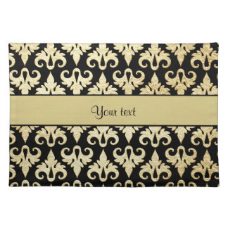 Elegant Gold Damask Placemat