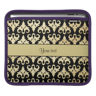 Elegant Gold Damask Sleeves For iPads