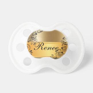 Elegant Gold Design Baby Pacifier