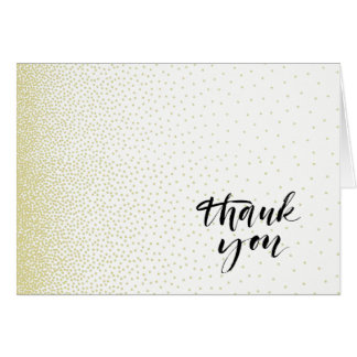 Elegant Gold Dust Thank You Note Cards