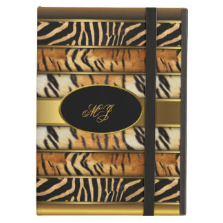 Elegant Gold Elite Classy Gold Mixed Animal 5 iPad Air Case
