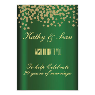 Elegant Gold & Emerald Card