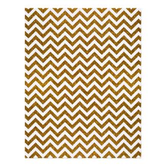 Elegant gold faux glitter chevron pattern letterhead